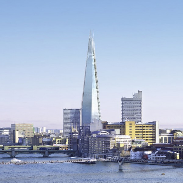 The Shard London by Renzo Piano 03 600x600 The Shard Skyscraper, Europe's Tallest Building Unveiled in London