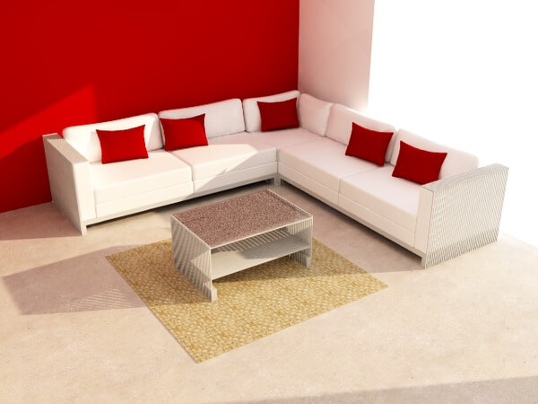 corner sofa Three Simple Space Saving Ideas