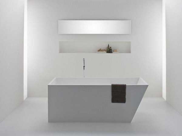 Latis bathroom products 02 600x449 Omvivos Luxurious and Sculptural New Bathroom Collection