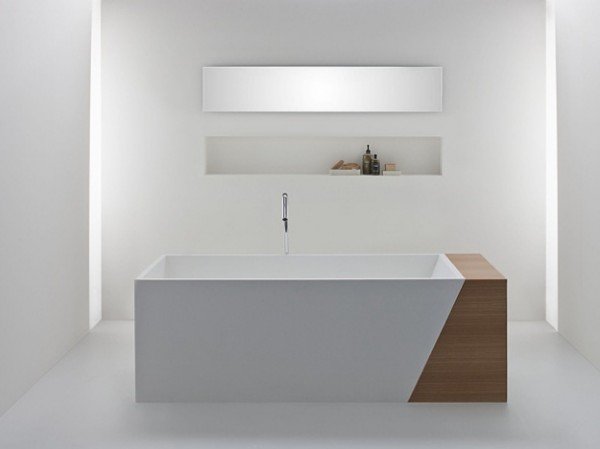 Latis bathroom products 03 600x449 Omvivos Luxurious and Sculptural New Bathroom Collection