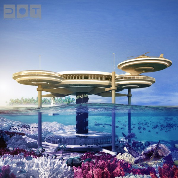 underwater hotel 600x600 The Water Discus Underwater Hotel