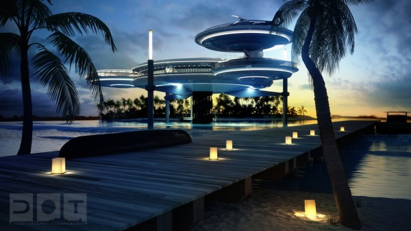 underwater hotel design 600x337 The Water Discus Underwater Hotel