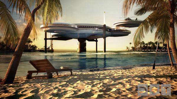 underwater hotel dubai 600x337 The Water Discus Underwater Hotel