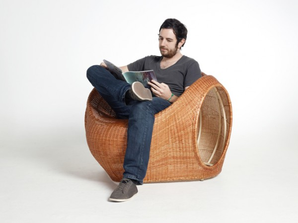 Amalia Chair by Eggpicnic 05 600x449 Innovative Handmade Mimbre Chair by Eggpicnic
