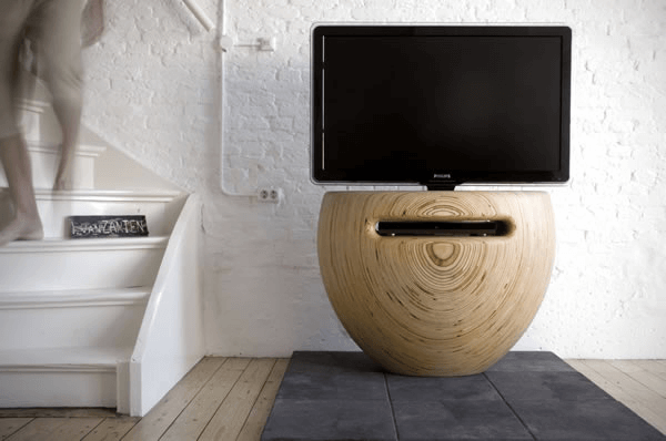 Bloom TV stand by Léon van Zanten 01 Unique Vase Shaped TV Stand for Modern Interiors