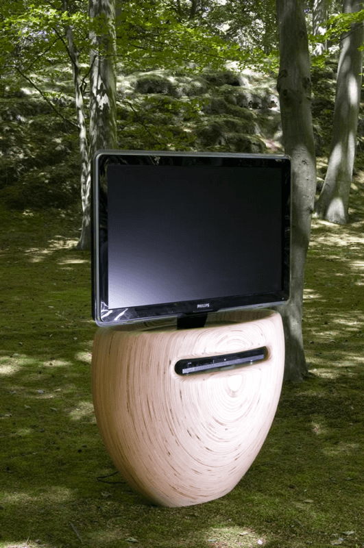 Bloom TV stand by Léon van Zanten 03 Unique Vase Shaped TV Stand for Modern Interiors