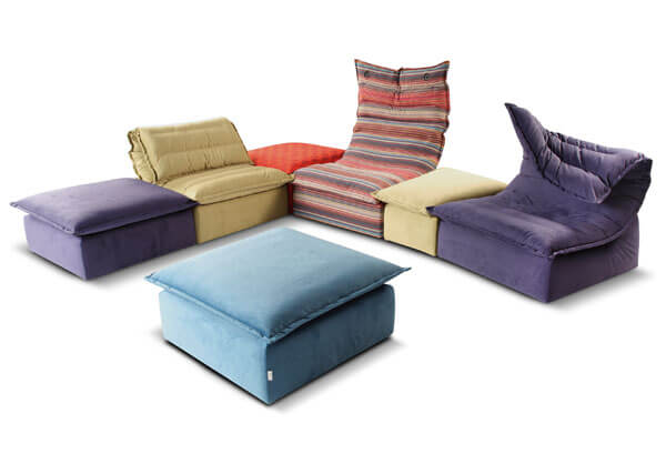 Blues Sofas Calia Italia 031 Modular Sofa with Original Design by Calia Italia