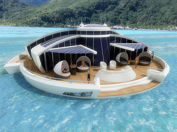 Unique Concept of a Floating Solar Resort