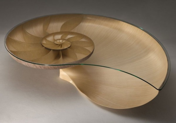 Organic Inspired Furniture Design Nautilus II Coffee  : Nautilus Table second edition by Marc Fish 01 600x421 from designlike.com size 600 x 421 jpeg 33kB