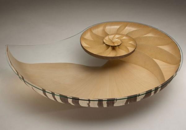 Organic Inspired Furniture Design: Nautilus II Coffee Table