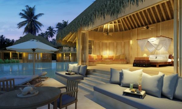 Stunning resorts in Maldives 04 600x361 Ultimate Privacy and Seclusion at Soneva Fushi Resort, Maldives