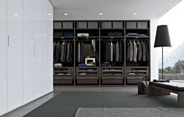 concemporary design walk in closets 600x381 30 Fabulous Walk In Closets to Inspire You