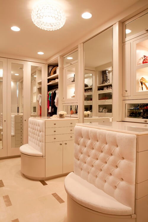 contemporary white walk in closets 30 Fabulous Walk In Closets to Inspire You