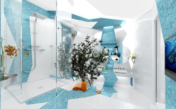 h2o in geometry by gemelli design 02 600x372 Creative Bathroom Project by Gemelli Design