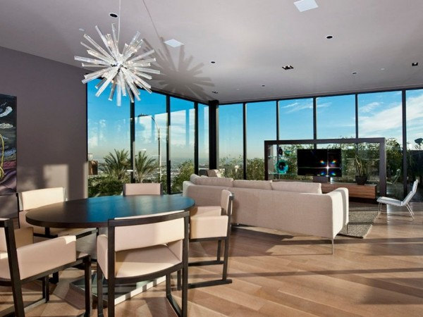 minimalist luxury estate in LA 06 600x450 Luxury Mansion On The Sunset Strip Overlooking Downtown LA