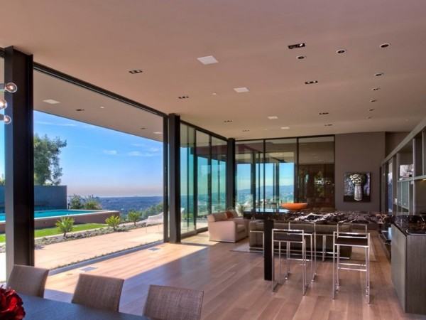 minimalist luxury estate in LA 07 600x450 Luxury Mansion On The Sunset Strip Overlooking Downtown LA
