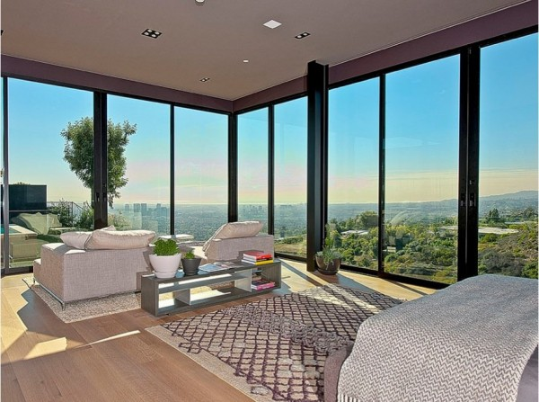 minimalist luxury estate in LA 09 600x447 Luxury Mansion On The Sunset Strip Overlooking Downtown LA