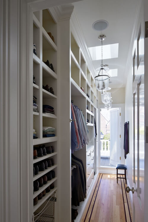 traditional white walk in closets 30 Fabulous Walk In Closets to Inspire You