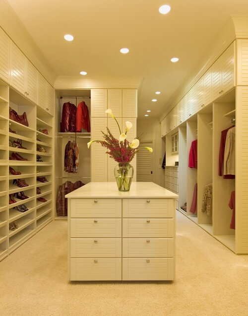 white contemporary walk in closets 30 Fabulous Walk In Closets to Inspire You