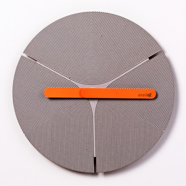 Colorful eco friendly clock orange 600x600 Eco Friendly Handcrafted Pensamientos Clock Series