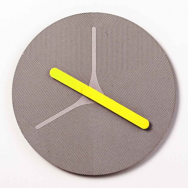 Colorful eco friendly clock yellow 600x600 Eco Friendly Handcrafted Pensamientos Clock Series