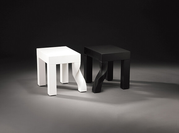 Creative stools design black and white 02 Intertwined Stools by Kan & Lau Design