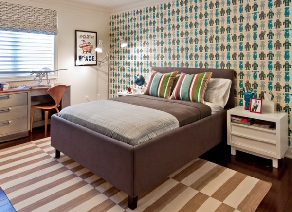 Design ideas for boys bedrooms 01 600x436 18 Great Design Ideas and Colour Schemes for Boys Rooms