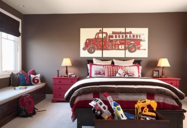 Design ideas for boys bedrooms 03 600x413 18 Great Design Ideas and Colour Schemes for Boys Rooms