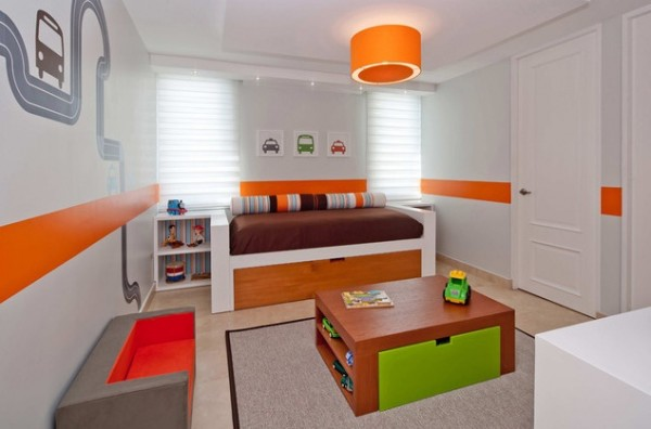Design ideas for boys bedrooms 06 600x396 18 Great Design Ideas and Colour Schemes for Boys Rooms