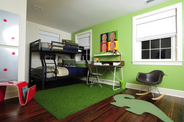 Design ideas for boys bedrooms 09 600x397 18 Great Design Ideas and Colour Schemes for Boys Rooms