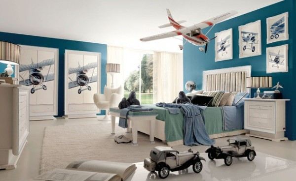 Design ideas for boys bedrooms 11 600x368 18 Great Design Ideas and Colour Schemes for Boys Rooms