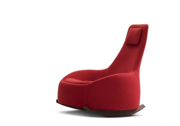 Dim Sum Rocking Chair by Montis 02 600x422 Relax with a Smile: Modern Rocking Chair Design by Montis