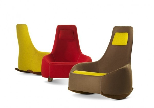 Dim Sum Rocking Chair by Montis 04 600x422 Relax with a Smile: Modern Rocking Chair Design by Montis
