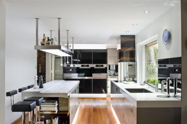 Large contemporary kitchen 600x397 Sophisticated Simplicity Defines Darren Jamess Kitchen Renovation