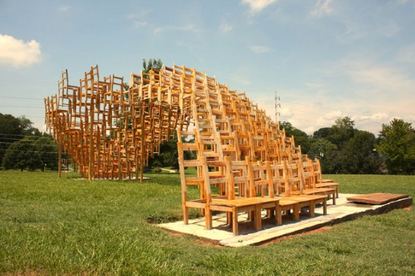 Public art project by EB Office 01 600x399 Interesting Garden Pavillion for Flux Projects at Freedom Park in Atlanta