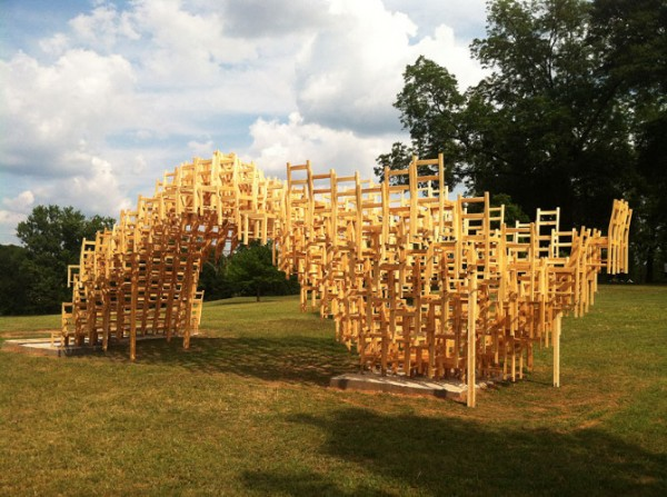 Public art project by EB Office 02 600x447 Interesting Garden Pavillion for Flux Projects at Freedom Park in Atlanta