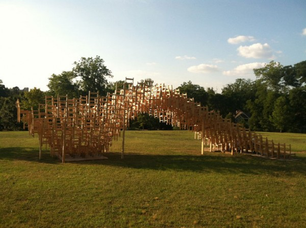 Public art project by EB Office 03 600x447 Interesting Garden Pavillion for Flux Projects at Freedom Park in Atlanta