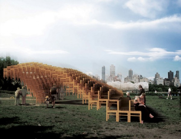 Public art project by EB Office 07 600x462 Interesting Garden Pavillion for Flux Projects at Freedom Park in Atlanta