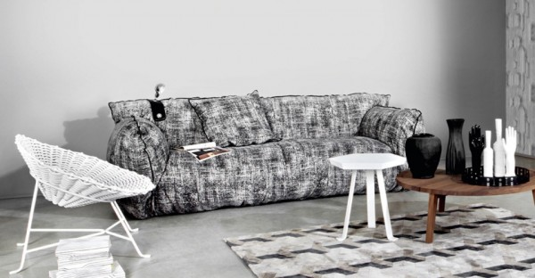 Silver and grey sofa from Gervasoni 05 600x312 Comfortable Upholstered Cloud Chair and Sofas from Gervasoni