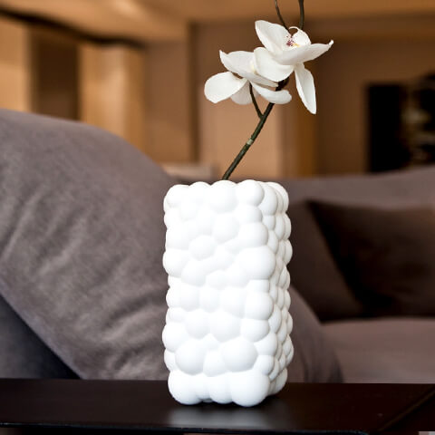 White Bubbles Vase by .exnovo 03 3D Printing Design Vases