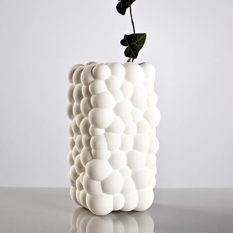 White Bubbles Vase by .exnovo 04 3D Printing Design Vases