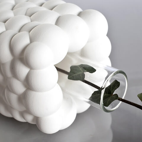 White Bubbles Vase by .exnovo 05 3D Printing Design Vases