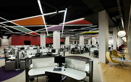 Working areas by OSO Architecture 06 Fun and Attractive Open Office, eBay – GittiGidiyor in Istanbul
