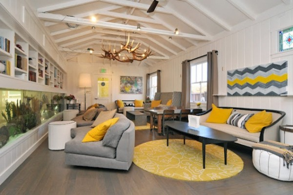 Trendy Color Combinations Yellow And Gray Interior