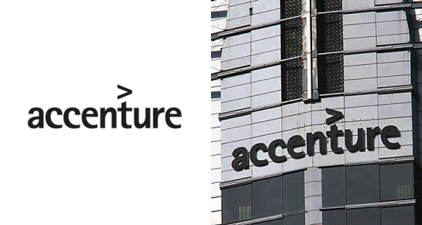accenture logo 600x320 How Much did Famous Logo Designs Cost?