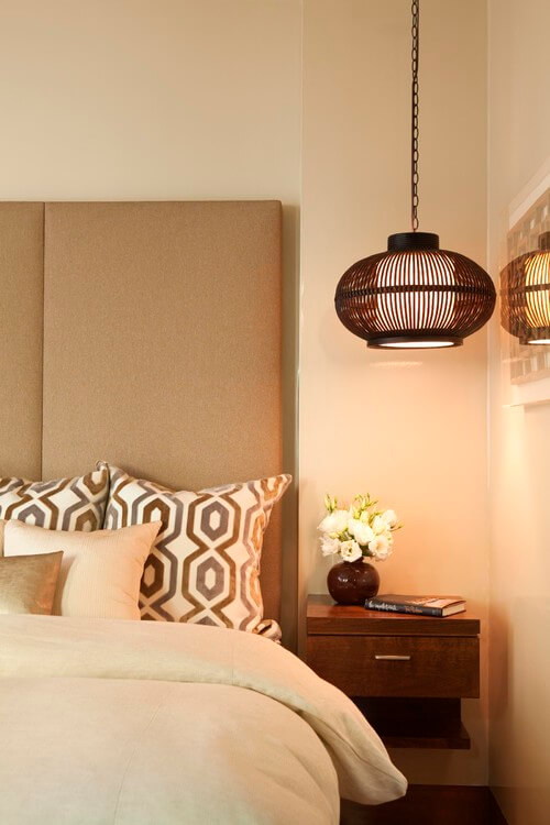 Bedside beautiful pendant lighting 10 Bedside Pendant Lighting Ideas