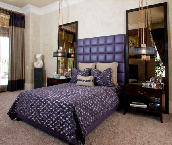 Bedside purple pendant lighting 600x506 10 Bedside Pendant Lighting Ideas