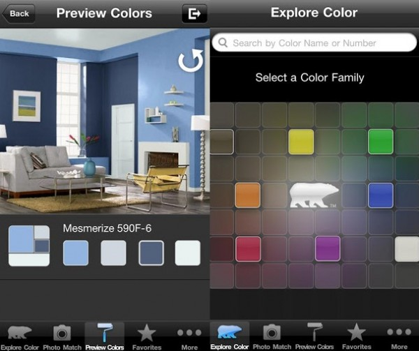ColorSmart Android app 600x503 Free Inspiring Android Apps to Help You Decorate