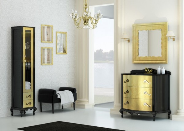 Golden accents bathroom furniture design 600x428 Bathroom Furniture