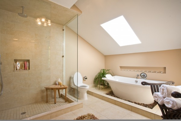 Green bathroom design 600x400 Simple Eco Friendly Ideas for Remodeling Your Bathroom